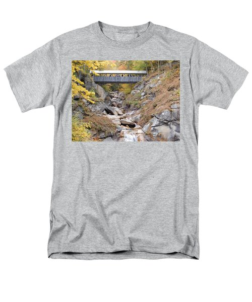 Sentinel Pine Covered Bridge Men's T-Shirt  (Regular Fit) by Catherine Gagne