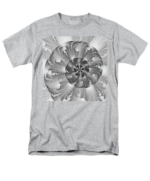 Shades Of Silver Men's T-Shirt  (Regular Fit) by Lea Wiggins