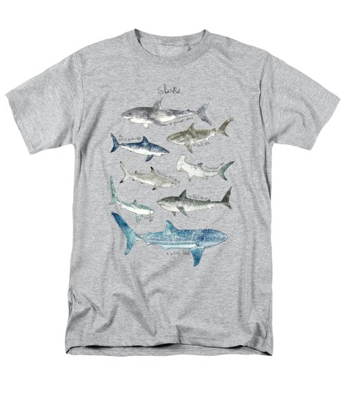 Sharks Men's T-Shirt  (Regular Fit) by Amy Hamilton
