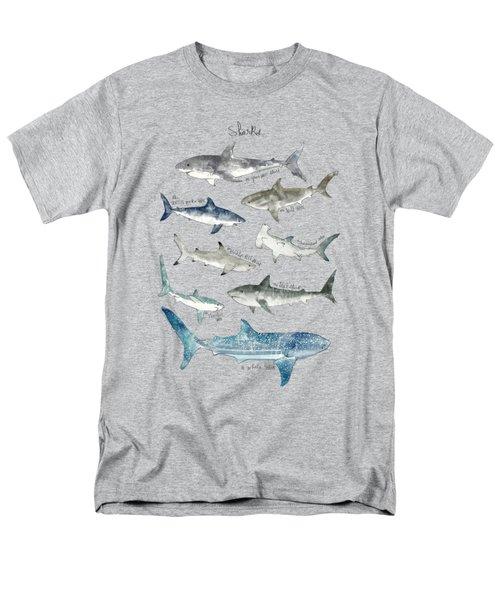 Sharks Men's T-Shirt  (Regular Fit)