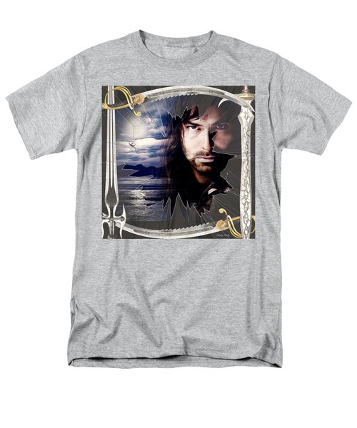 Shattered Kili With Swords Men's T-Shirt  (Regular Fit) by Kathy Kelly