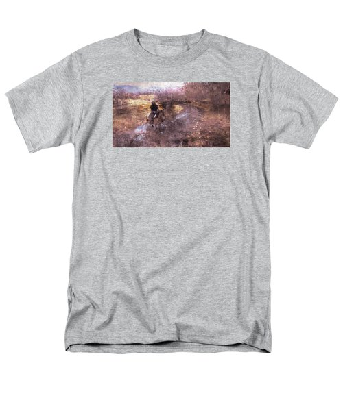 She Rides A Mustang-wrangler In The Rain II Men's T-Shirt  (Regular Fit) by Anastasia Savage Ealy