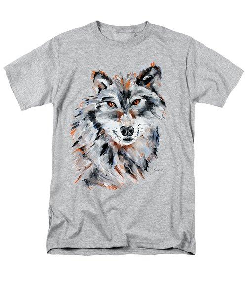 She Wolf - Animal Art By Valentina Miletic Men's T-Shirt  (Regular Fit) by Valentina Miletic
