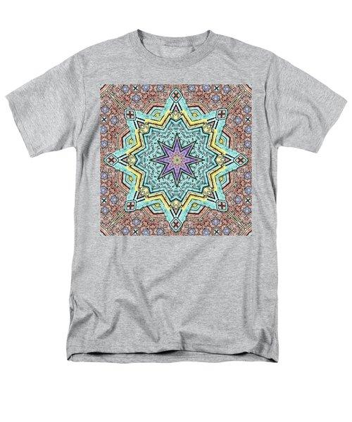 Shell Star Mandala Men's T-Shirt  (Regular Fit) by Deborah Smith