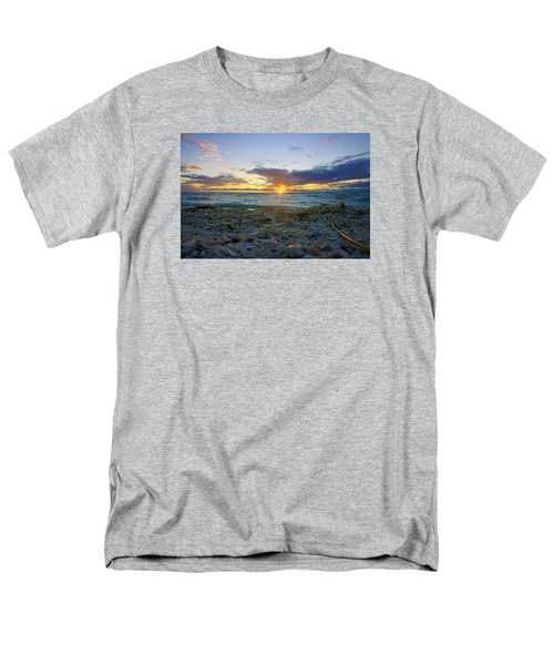 Shells On The Beach At Sunset Men's T-Shirt  (Regular Fit) by Robb Stan