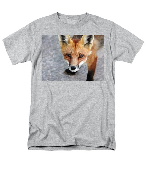 Men's T-Shirt  (Regular Fit) featuring the photograph Shy Red Fox  by Debbie Oppermann