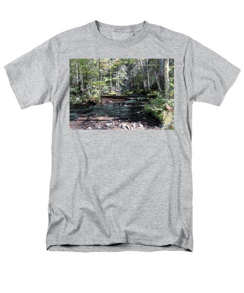 Men's T-Shirt  (Regular Fit) featuring the digital art Side Brook by John Selmer Sr