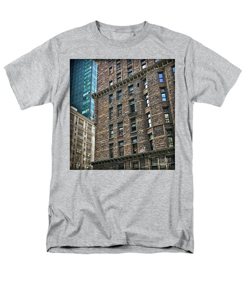 Men's T-Shirt  (Regular Fit) featuring the photograph Sights In New York City - Old And New by Walt Foegelle
