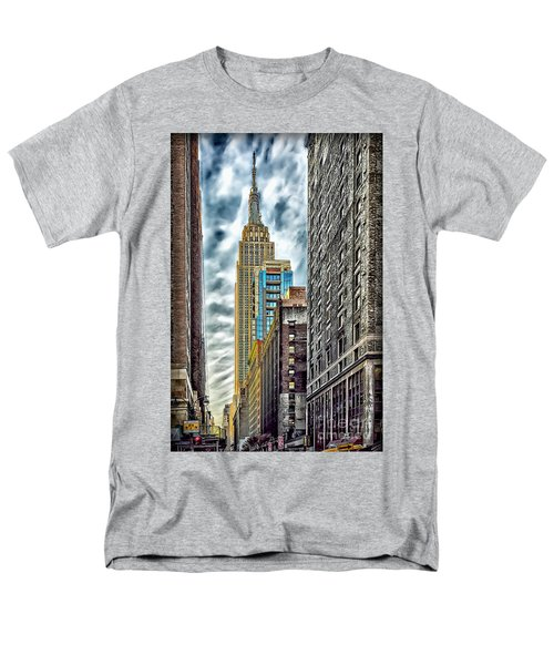 Men's T-Shirt  (Regular Fit) featuring the photograph Sights In New York City - Skyscrapers 10 by Walt Foegelle