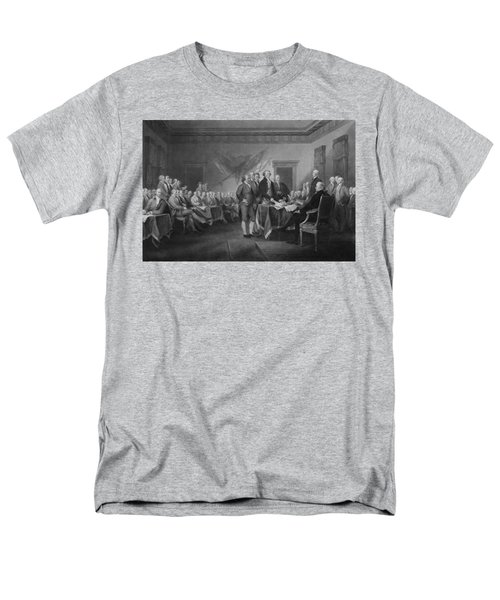 Signing The Declaration Of Independence Men's T-Shirt  (Regular Fit) by War Is Hell Store