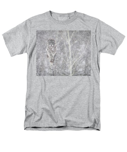 Men's T-Shirt  (Regular Fit) featuring the photograph Silent Snowfall Landscape by Everet Regal