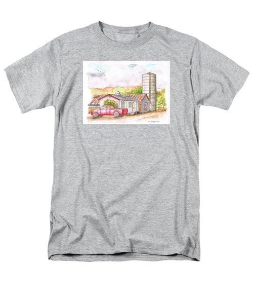 Silo In Los Olivos, California Men's T-Shirt  (Regular Fit) by Carlos G Groppa