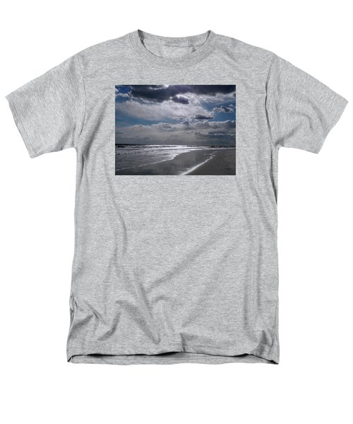 Men's T-Shirt  (Regular Fit) featuring the photograph Silver Linings Trim The Sea by Lynda Lehmann