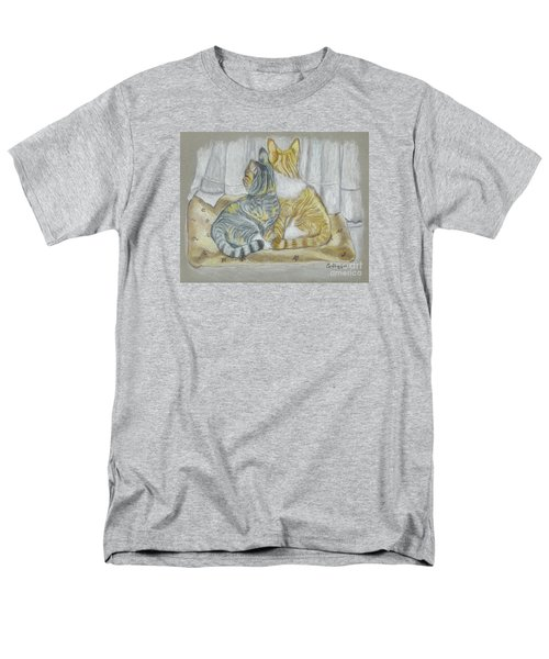 Men's T-Shirt  (Regular Fit) featuring the drawing Sisters  by Carol Wisniewski