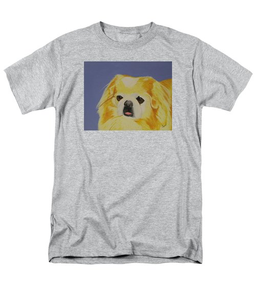 Men's T-Shirt  (Regular Fit) featuring the painting Skeeter The Peke by Hilda and Jose Garrancho