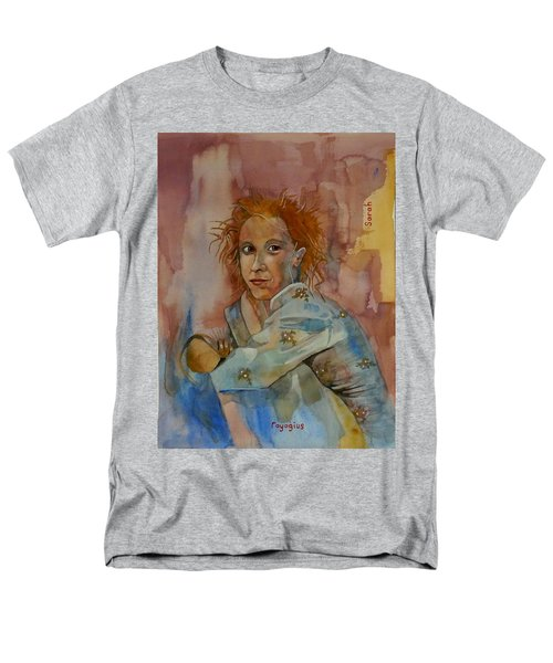 Men's T-Shirt  (Regular Fit) featuring the painting Sketch For Sarah by Ray Agius