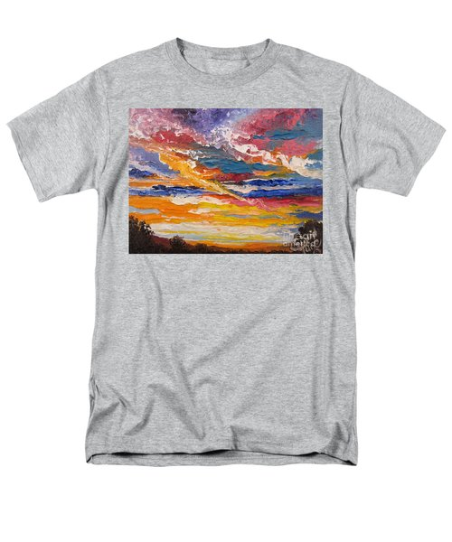 Men's T-Shirt  (Regular Fit) featuring the painting Sky In The Morning by Sigrid Tune