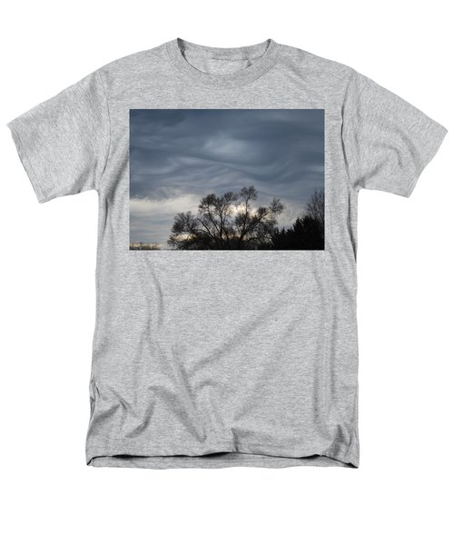 Men's T-Shirt  (Regular Fit) featuring the photograph Sky Of Ribbons by Ramona Whiteaker