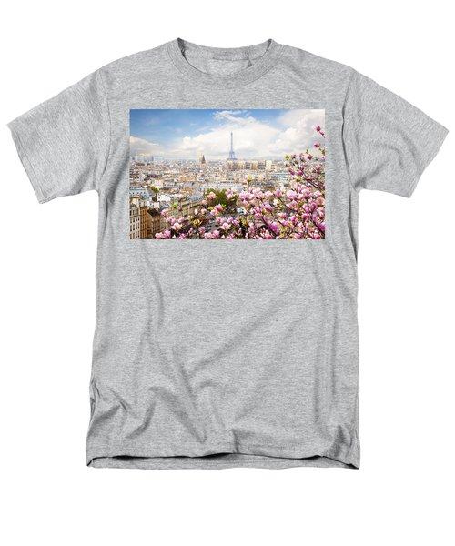 skyline of Paris with eiffel tower Men's T-Shirt  (Regular Fit) by Anastasy Yarmolovich