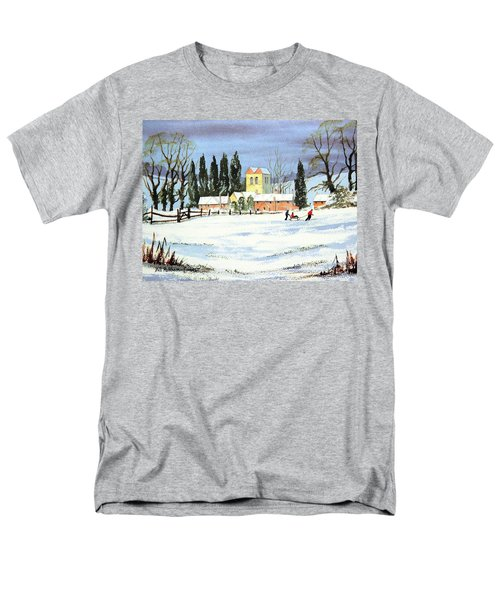Sledding With Dad Men's T-Shirt  (Regular Fit) by Bill Holkham