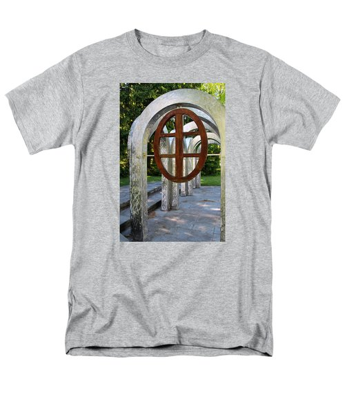 Men's T-Shirt  (Regular Fit) featuring the photograph Small Park With Arches by Michiale Schneider