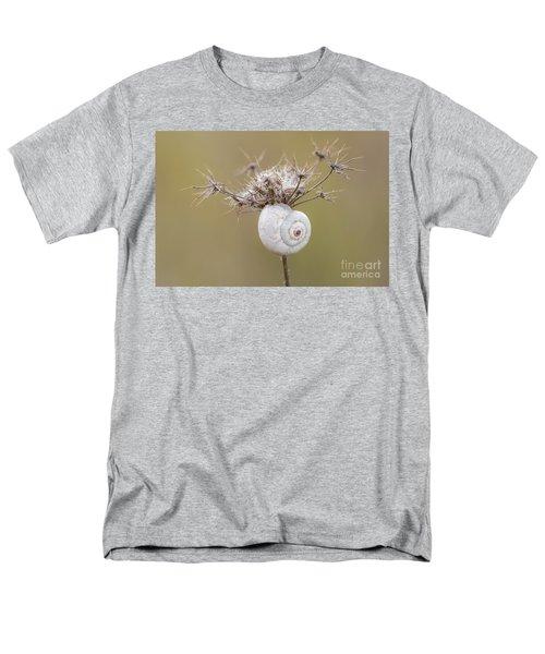 Small Snail Shell Hanging From Plant Men's T-Shirt  (Regular Fit) by Gurgen Bakhshetsyan