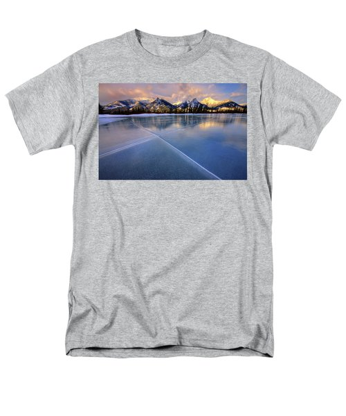 Men's T-Shirt  (Regular Fit) featuring the photograph Smooth Ice by Dan Jurak