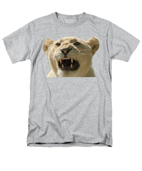 Snarling Lion Men's T-Shirt  (Regular Fit) by Scott Carruthers