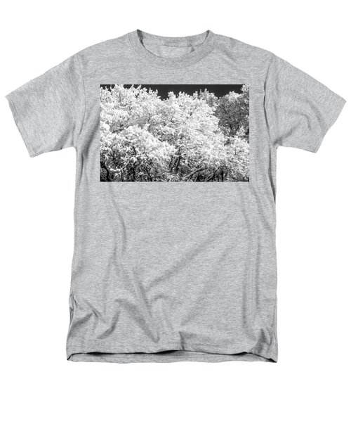 Snow And Frost On Trees In Winter Men's T-Shirt  (Regular Fit) by John Brink