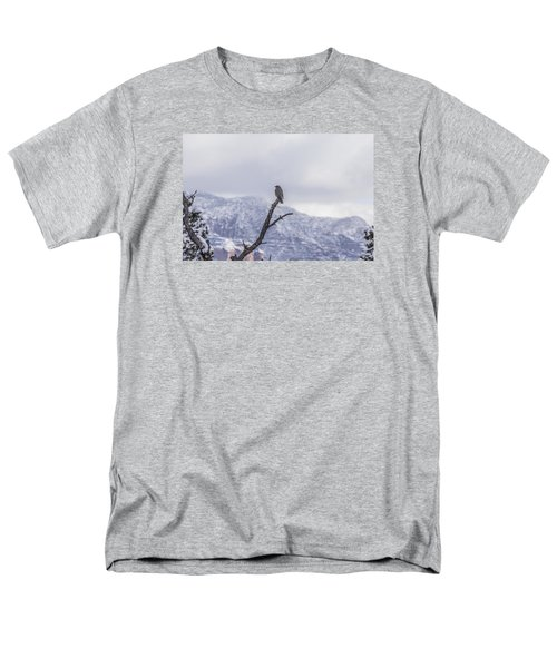 Snow Bird Men's T-Shirt  (Regular Fit) by Laura Pratt