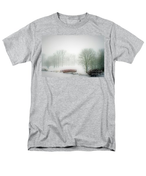 Men's T-Shirt  (Regular Fit) featuring the photograph Snow Bridge by Polly Peacock