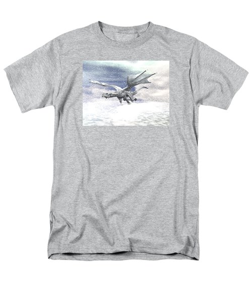 Snow Dragon Men's T-Shirt  (Regular Fit) by Michele Wilson