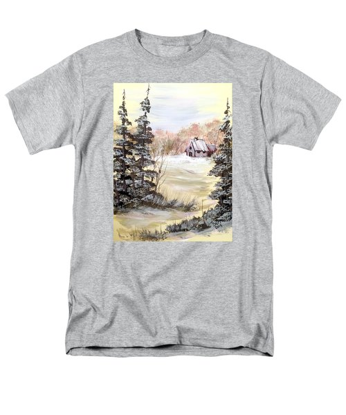 Men's T-Shirt  (Regular Fit) featuring the painting Snow Everywhere by Dorothy Maier