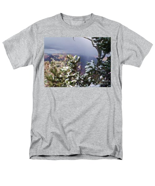 Men's T-Shirt  (Regular Fit) featuring the photograph Snow In The Canyon by Roberta Byram