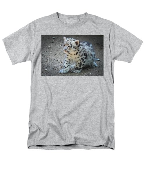Snow Leopard Cub Men's T-Shirt  (Regular Fit) by Terry DeLuco