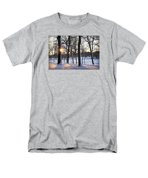 Snow Starred Grove Men's T-Shirt  (Regular Fit) by Kathy M Krause