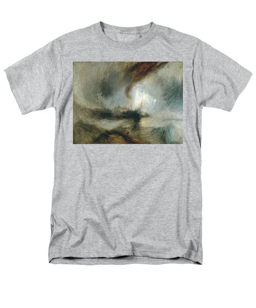 Men's T-Shirt  (Regular Fit) featuring the painting Snow Storm by Joseph Mallord William Turner