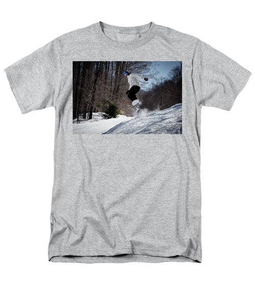 Men's T-Shirt  (Regular Fit) featuring the photograph Snowboarding Mccauley Mountain by David Patterson