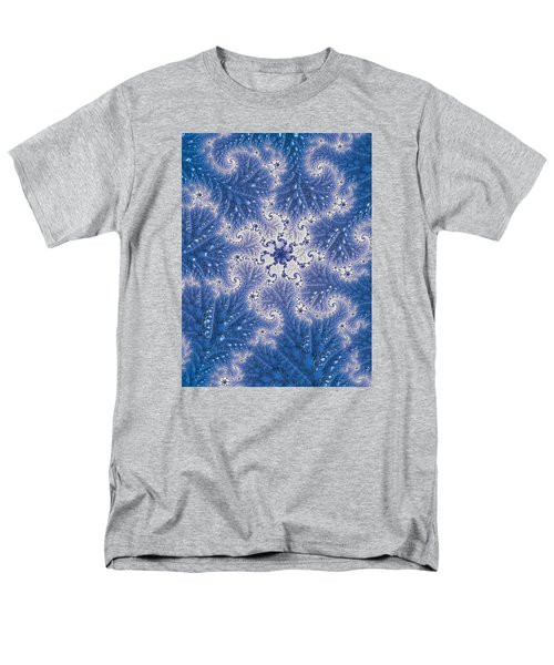 Men's T-Shirt  (Regular Fit) featuring the photograph Snowflake Embroidered by Ronda Broatch