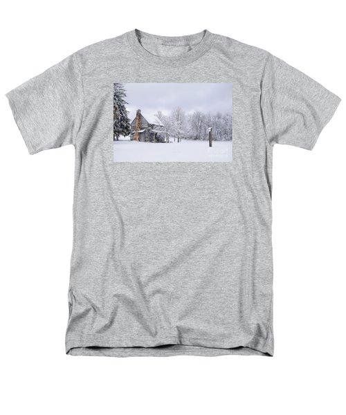 Snowy Cabin Men's T-Shirt  (Regular Fit) by Benanne Stiens