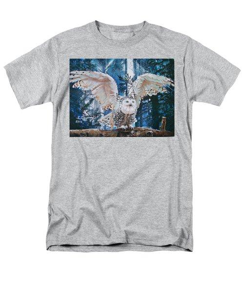 Snowy Owl On Takeoff  Men's T-Shirt  (Regular Fit)