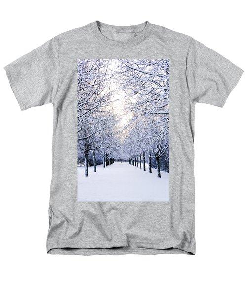 Snowy Pathway Men's T-Shirt  (Regular Fit) by Marius Sipa
