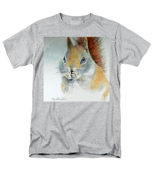Snowy Red Squirrel Men's T-Shirt  (Regular Fit) by William Reed
