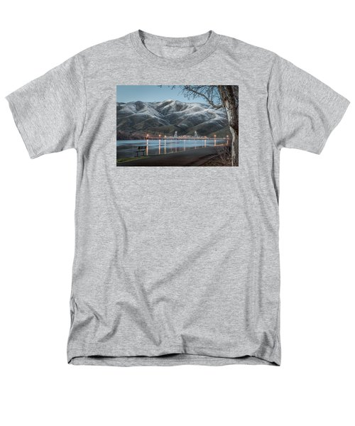 Snowy Star Men's T-Shirt  (Regular Fit) by Brad Stinson