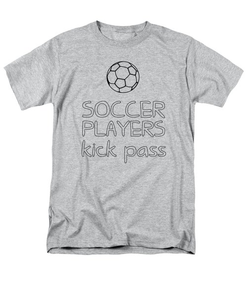 Soccer Players Kick Pass Poster Men's T-Shirt  (Regular Fit) by Liesl Marelli