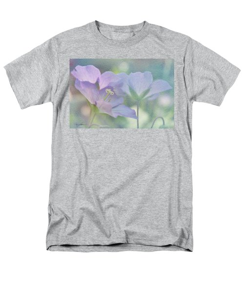 Men's T-Shirt  (Regular Fit) featuring the photograph Soft Blue by Ann Lauwers
