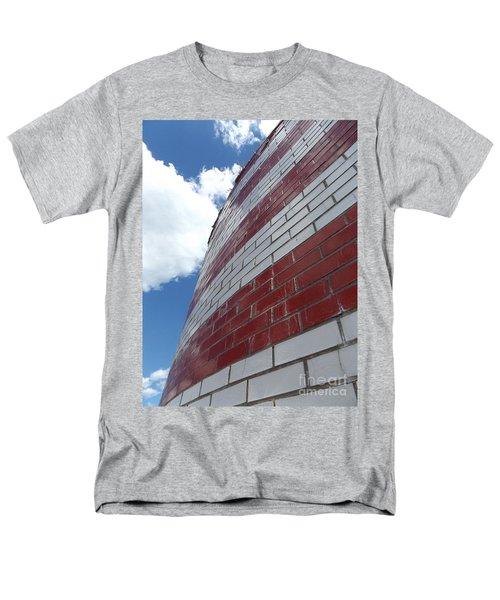 Solid Flag Blue Sky Men's T-Shirt  (Regular Fit) by Erick Schmidt