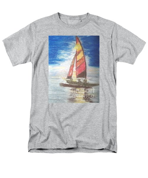 Men's T-Shirt  (Regular Fit) featuring the painting Solo Ride by Trilby Cole