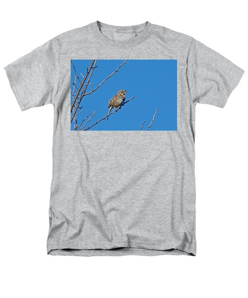 Men's T-Shirt  (Regular Fit) featuring the photograph Song Sparrow by Michael Peychich