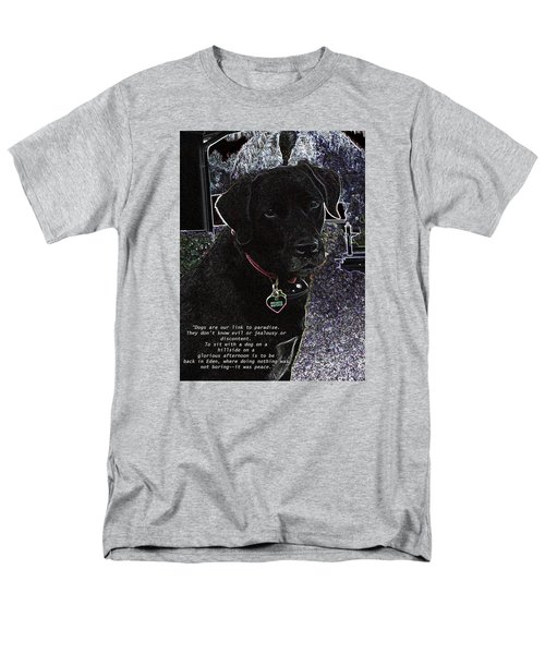 Men's T-Shirt  (Regular Fit) featuring the mixed media Sophie by Charles Shoup